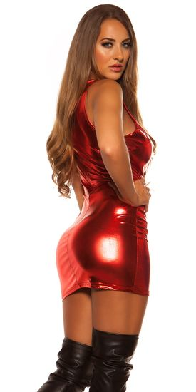 Női ruha 74008 + Nőin zokni Gatta Calzino Strech, piros, UNIVERZáLIS