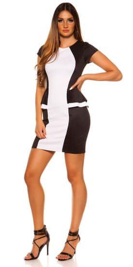 Női ruha 74221 + Nőin zokni Gatta Calzino Strech, fekete-fehér, L