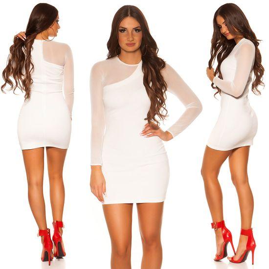 Női ruha 74478 + Nőin zokni Gatta Calzino Strech, fehér, XL