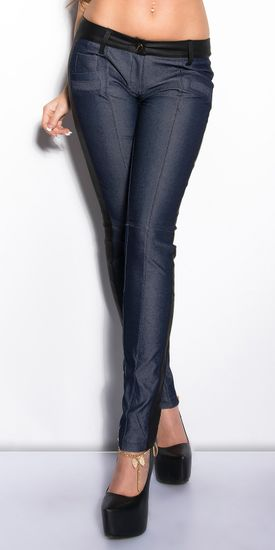 Női treggings 74801 + Nőin zokni Gatta Calzino Strech, jeans, XL