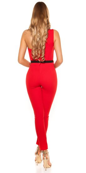 Női overál 75028 + Nőin zokni Gatta Calzino Strech, piros, L