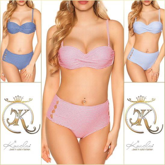 Dámske dvojdielne plavky 75383 + Nadkolienky Gatta Calzino Strech, ružová, 42