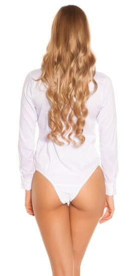 Női body 75871 + Nőin zokni Gatta Calzino Strech, fehér, XL
