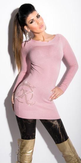 Női kardigán 77592 + Nőin zokni Gatta Calzino Strech, vén rózsaszín, UNIVERZáLIS
