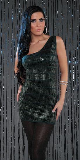 Dámske šaty 77723 + Nadkolienky Gatta Calzino Strech, zelená, UNIVERZáLNA