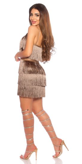 Női ruha 78856 + Nőin zokni Gatta Calzino Strech, cappucino, L