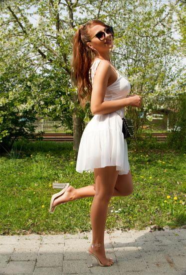 Dámske šaty 78921, biela, UNIVERZáLNA