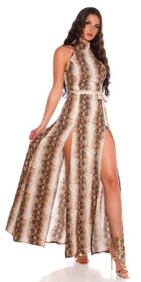 Dámske šaty 79005, zvířecí potisk, XL