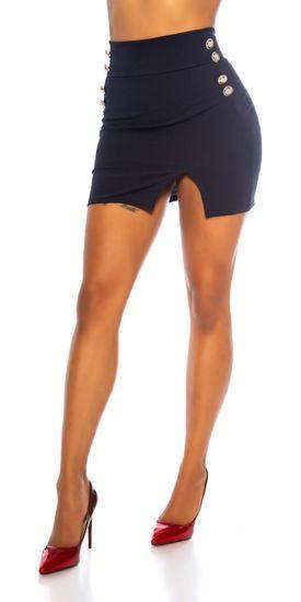 Női szoknya 79759 + Nőin zokni Gatta Calzino Strech, Deep Navy, XL