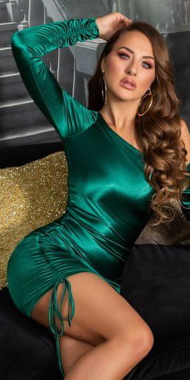 Dámske šaty 79721 + Nadkolienky Gatta Calzino Strech, zelená, UNIVERZáLNA