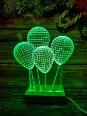 LANDX Světelná LED dekorace – Balónky