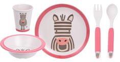 Koopman otroški jedilni komplet ZEBRA, 5-delni