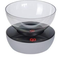 Koopman digitalna kuhinjska tehtnica, s skledo, do 5 kg, siva