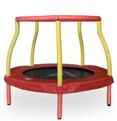 Aga Trampolina dziecięca do pokoju 116 cm Red/Yellow