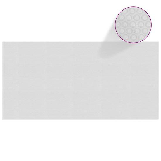 shumee szürke napelemes lebegő PE medencefólia 975 x 488 cm