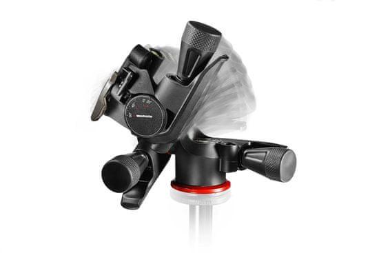 "Manfrotto XPRO ""Geared"" 3 Way pan/tilt glava za stojalo (MHXPRO-3WG) - idealna za makro fotografijo"