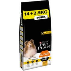 Purina Pro Plan ALL SIZES ADULT OPTIWEIGHT kuře 14kg +2.5kg