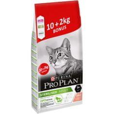 Purina Pro Plan Cat STERILISED losos 10 kg + 2 kg