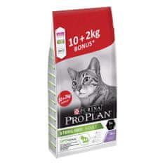 Purina Pro Plan Cat STERILISED krůta 10 kg + 2 kg