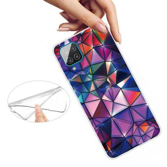 WHB Abstrakt Triangles maskica za Samsung Galaxy A12, silikonska