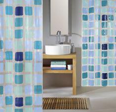 Kleine Wolke zavesa za tuš Sonny, 180x200 cm,180x200 cm, modra