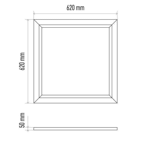 Emos Rámeček pro LED panel 60x60cm, bezšroubový