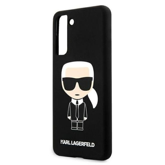 Karl Lagerfeld Iconic Full Body silikonový kryt pro Samsung Galaxy S21+ KLHCS21MSLFKBK, černý