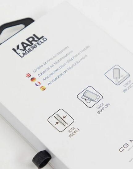 Karl Lagerfeld Iconic Full Body silikonový kryt pro Samsung Galaxy S21 KLHCS21SSLFKBK, černý