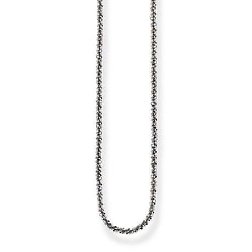 Thomas Sabo Sterling Silver náhrdelník, appr. 45 cms, plain, 925 Sterling silver, Blackened