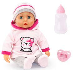 Bayer Design First Words Baby lutka, 38 cm, svijetlo ružičasta