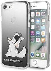 Karl Lagerfeld Choupette Fun ovitek za iPhone 7/8/SE 2020, prozoren