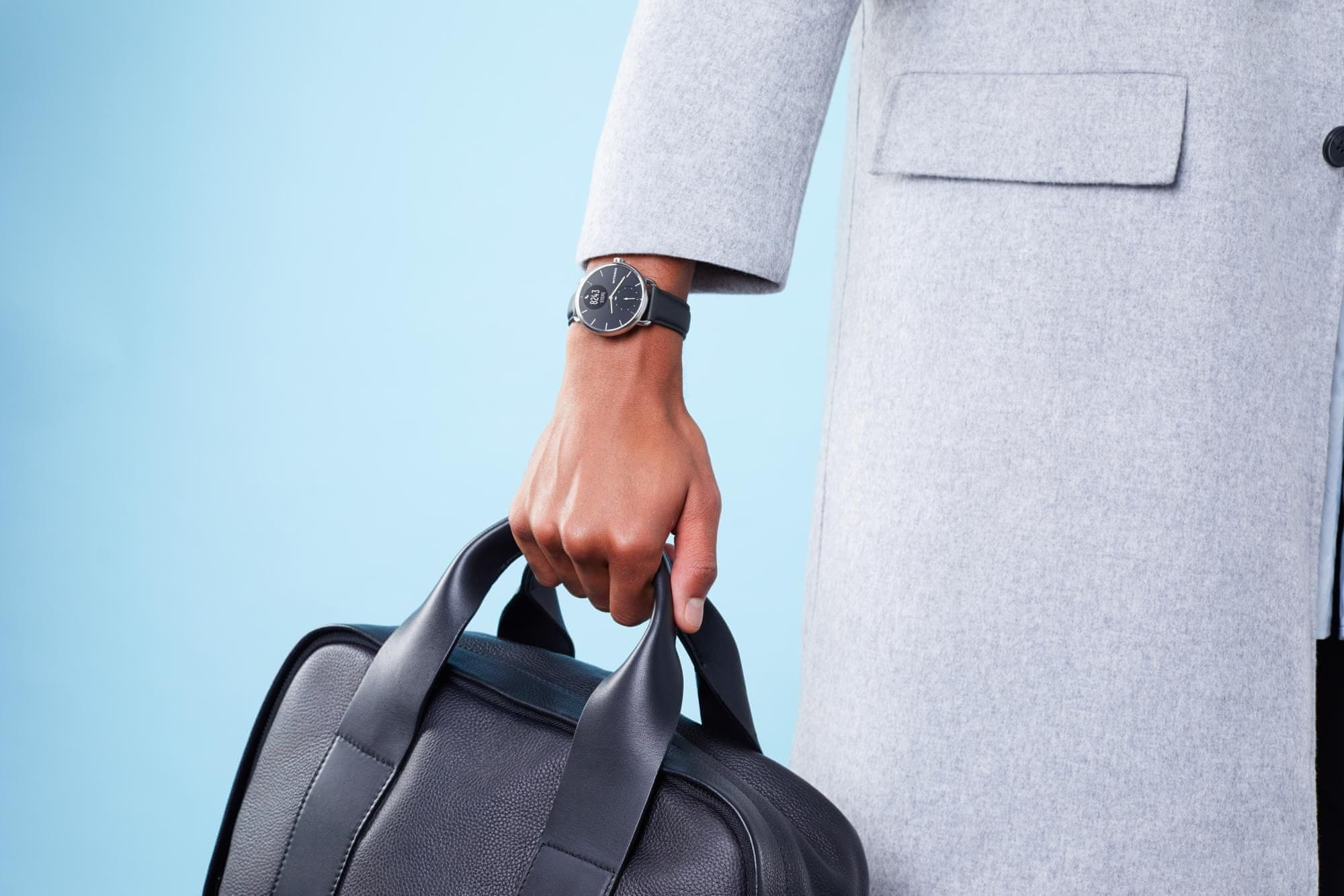 Inteligentné hodinky Withings Scanwatch 38mm, dlhá výdrž batérie, GPS, schody, výškomer, plávanie, potápanie, pre zdravie, detekuje fibriláciu predsiení, srdcový rytmus, spánková apnoe