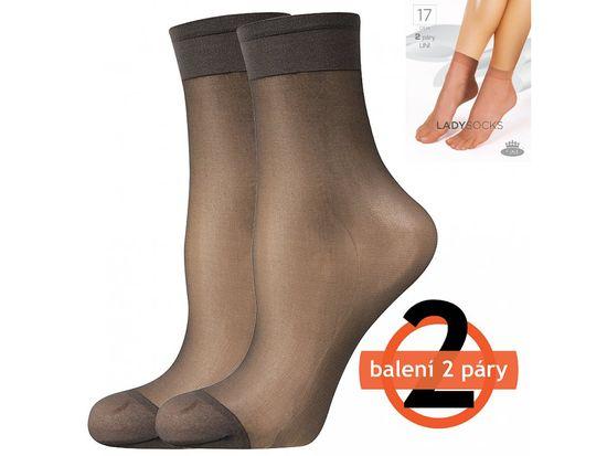Fuski - Boma Dámske ponožky 17 DEN - 2 páry Barva: beige, Velikost: uni