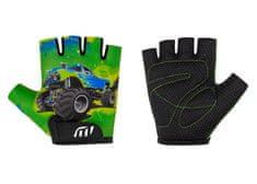 Wista Cyklistické rukavice WISTA dětské zelená– 80198 3-4
