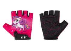 Wista Cyklistické rukavice WISTA dětské růžová– 80193 5-6