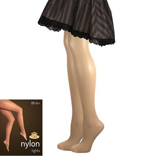 Fuski - Boma punčochové kalhoty NYLON tights 20 DEN Barva: beige, Velikost: S/158-164/100