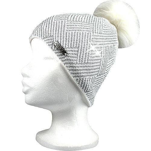 Fuski - Boma čepice Mokka Barva: bílá/stříbrná, Velikost: uni