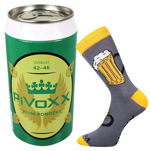 Fuski - Boma ponožky PiVoXX + plechovka Barva: Černá, Velikost: pánská