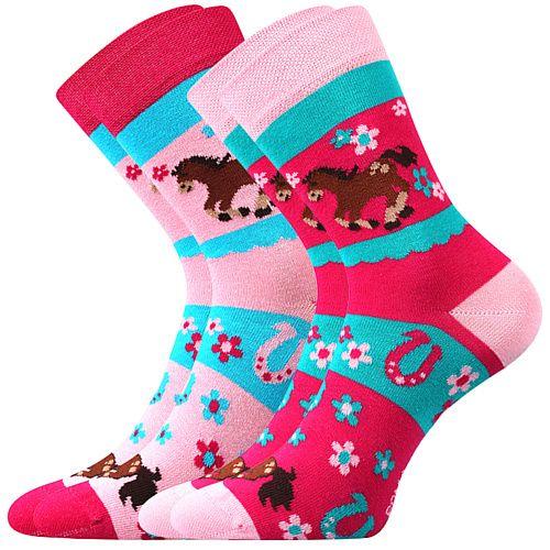 Fuski - Boma ponožky Horsik Barva: mix, Velikost: 20-24 (14-16)
