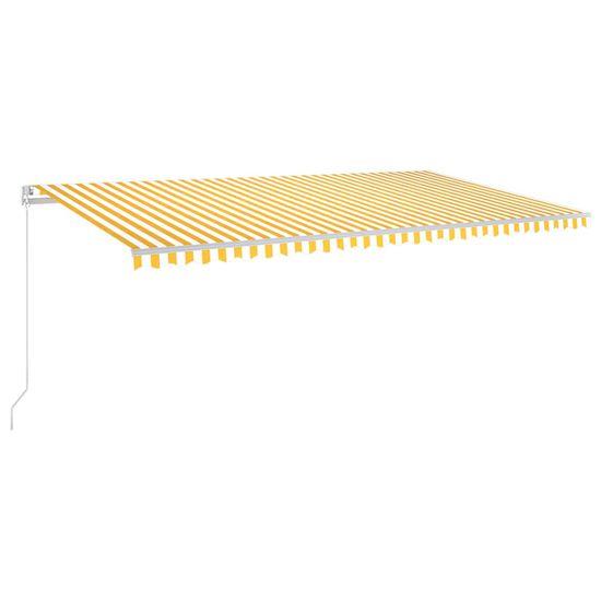 shumee sárga-fehér szélérzékelős és LED-es napellenző 600 x 300 cm