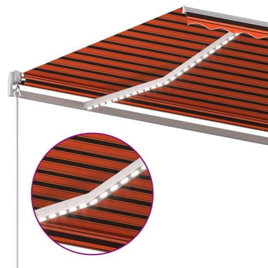 shumee narancssárga-barna szélérzékelős és LED-es napellenző 6 x 3 m