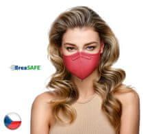 BreaSAFE® 10x Český NanoRespirátor BreaSAFE® FFP2 - Znovupoužitelný - bordó M (39,90 Kč/kus)