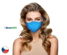 BreaSAFE® 5x Český NanoRespirátor BreaSAFE® FFP2 - Znovupoužitelný - modrý L (39,90 Kč/kus)