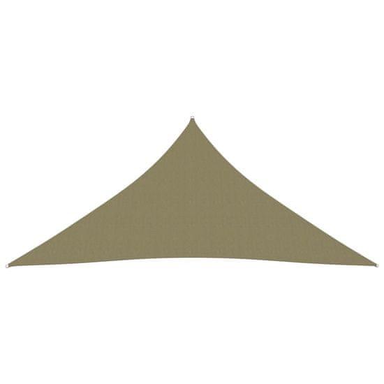 shumee Záhradná trojuholníková plachta Oxford Látkové 4,5x4,5x4,5 m béžová
