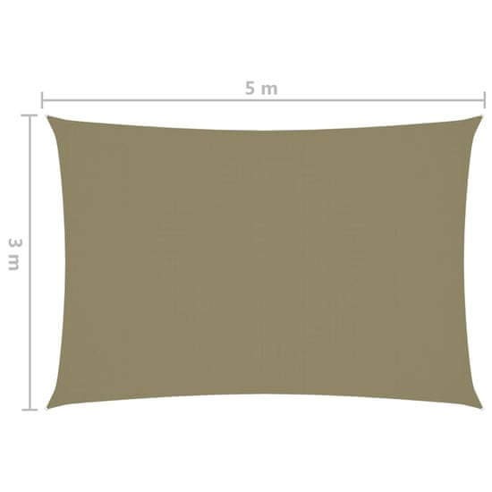 shumee Pravokotna vrtna jadra Oxford Cloth 3x5m Bež