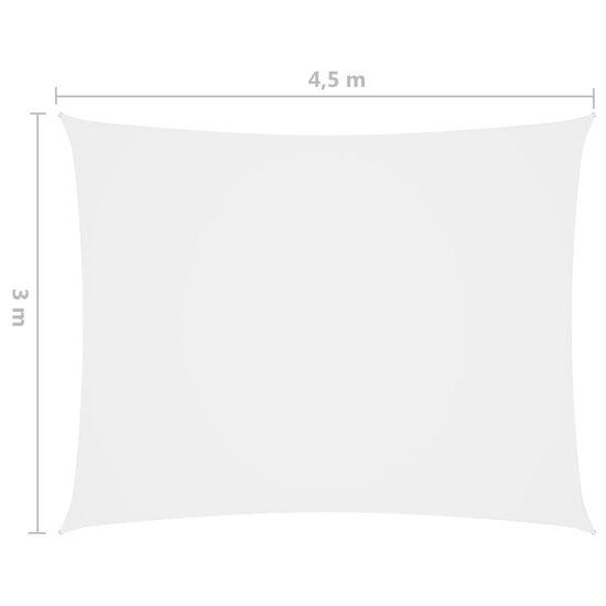 shumee fehér téglalap alakú oxford-szövet napvitorla 3 x 4,5 m