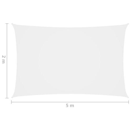 shumee fehér téglalap alakú oxford-szövet napvitorla 2 x 5 m