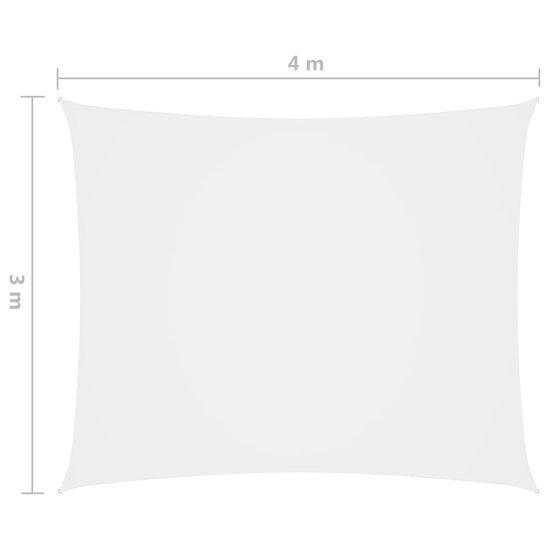 shumee Obdĺžniková plachta Oxford Cloth 3x4 m biela