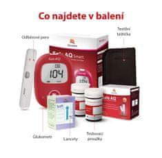 Sinocare Glukometr Safe AQ Smart, 25 proužků, 25 lancet, odběrové pero, taštička