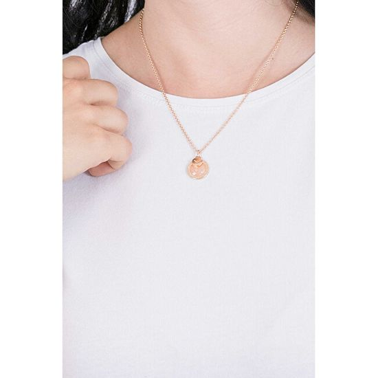 Emporio Armani Luxusní bronzový náhrdelník s přívěsky EG3375221 stříbro 925/1000